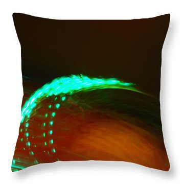 Whirligig Throw Pillow by Michelle Calkins