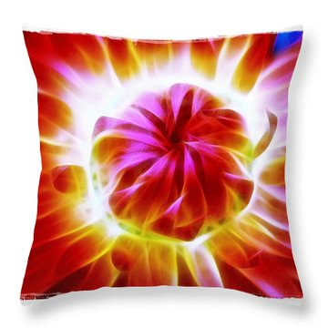Whirling Throw Pillow by Judi Bagwell