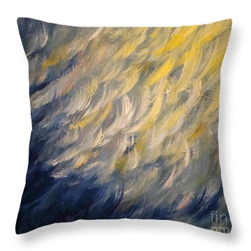 Whispered Wishes On A Starry Night Throw Pillow