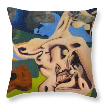Whispering The Song Of The Moon Throw Pillow by JC Armbruster