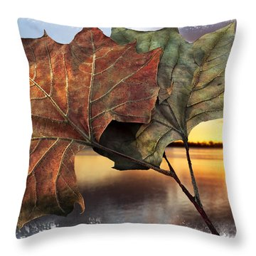 Whispers In The Wind Throw Pillow by Debra and Dave Vanderlaan