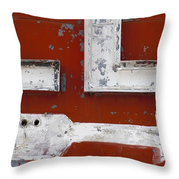 White Arrow On Motel Sign Throw Pillow
