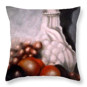 White Carafe Throw Pillow