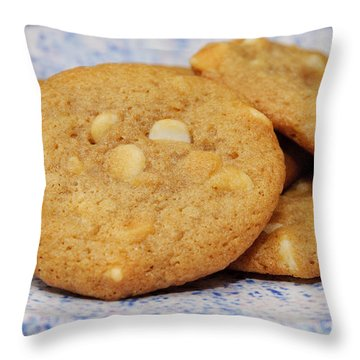 White Chocolate Chip Cookies Throw Pillow by Andee Design