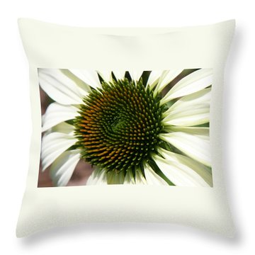 Throw Pillow featuring the photograph White Coneflower Daisy by Donna Corless