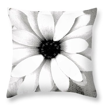 Throw Pillow featuring the photograph White Daisy by Tammy Espino