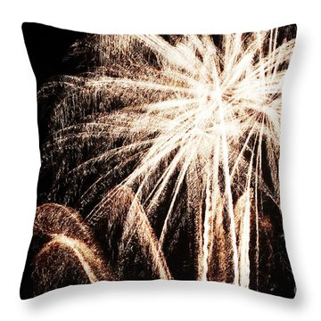 White Explosion Throw Pillow