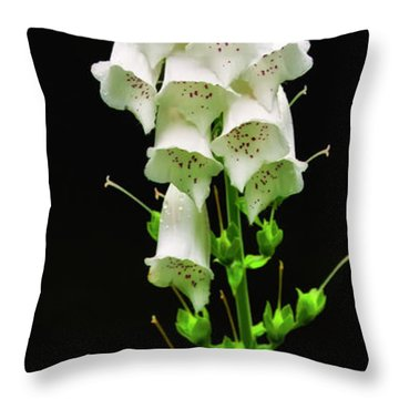 Throw Pillow featuring the photograph White Foxglove by Albert Seger