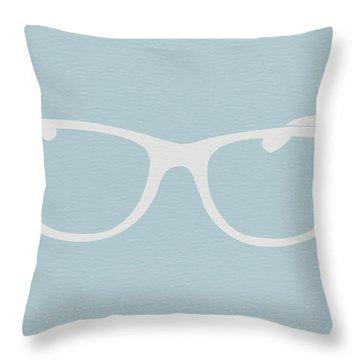 White Glasses Throw Pillow