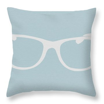 White Glasses Throw Pillow by Naxart Studio