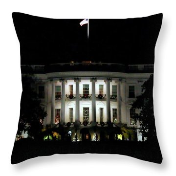 Throw Pillow featuring the photograph White House In December by Suzanne Stout