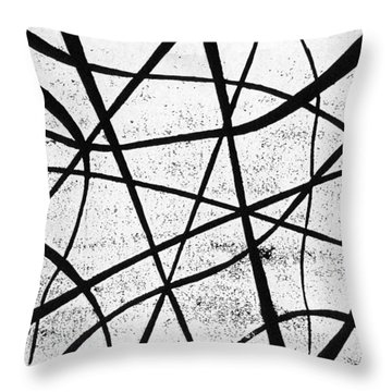 White On Black Throw Pillow by Hakon Soreide