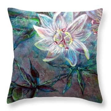 White Passion Throw Pillow