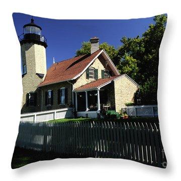 White River Light Throw Pillow