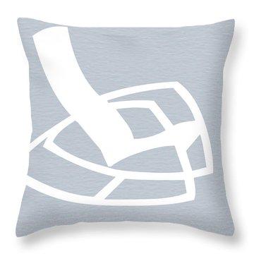 White Rocking Chair Throw Pillow