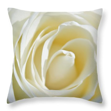 White Rose Throw Pillow by Ann Murphy