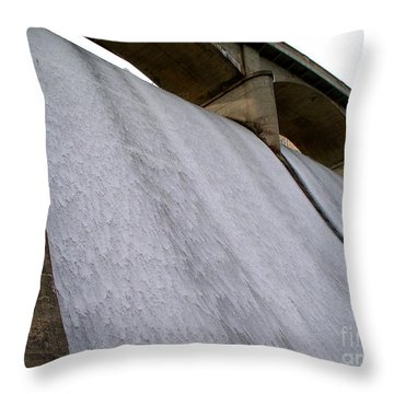 Throw Pillow featuring the photograph White Sheets Of Water by Mark Dodd