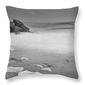 White Stone Throw Pillow by Guido Montanes Castillo