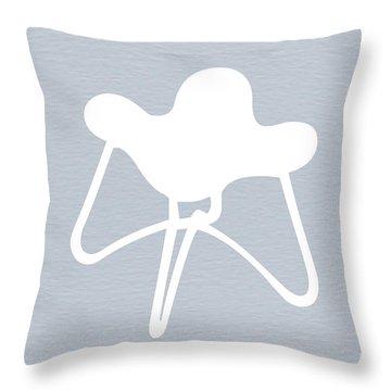 White Stool Throw Pillow
