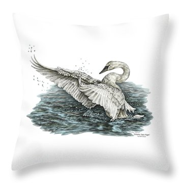 White Swan - Dreams Take Flight-tinted Throw Pillow