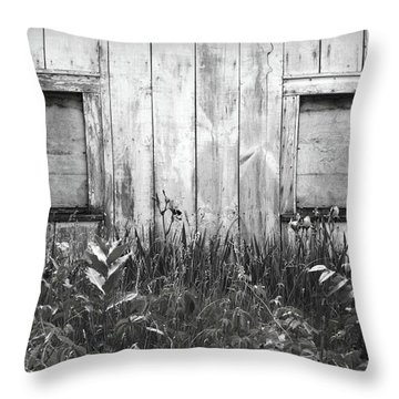 White Windows Throw Pillow by Anna Villarreal Garbis