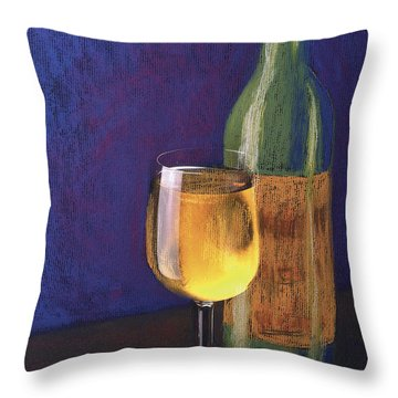 White Wine Throw Pillow by Garry McMichael