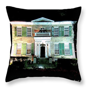 Whitehern Historic House And Garden Throw Pillow by Danielle  Parent