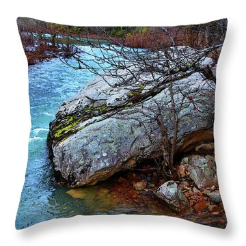 Throw Pillow featuring the photograph White's Creek by Paul Mashburn