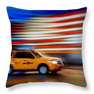 Whizzing Along Throw Pillow by Susan Candelario