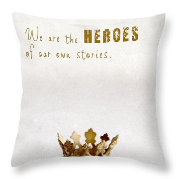Throw Pillow featuring the photograph Who To Crown... by Taschja Hattingh