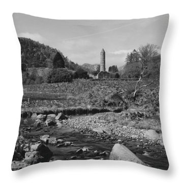 Wicklow Scenery Throw Pillow by Marcio Faustino