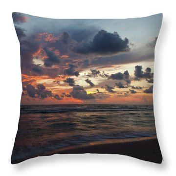 Wiggins Beach Summer Sunset. Throw Pillow