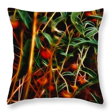 Wild Berries Throw Pillow by Ellen Heaverlo