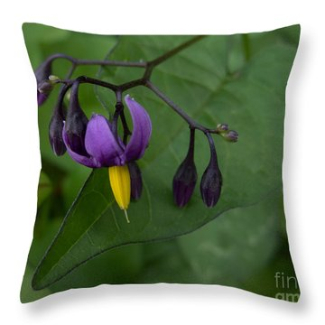 Wild Flower Throw Pillow