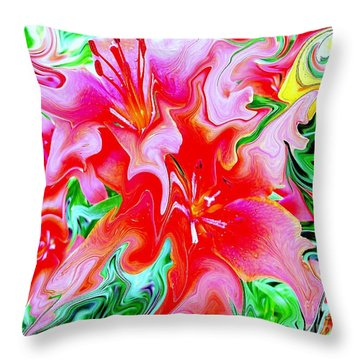 Wild Flowers Throw Pillow by Greg Moores
