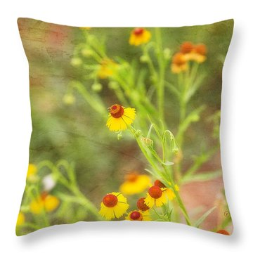 Throw Pillow featuring the photograph Wild Flowers by Joan Bertucci