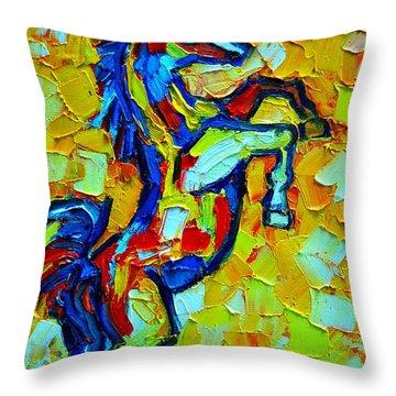 Wild Horse Throw Pillow by Ana Maria Edulescu
