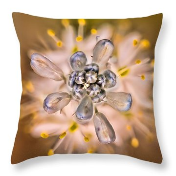 Wild Hyacinth Throw Pillow