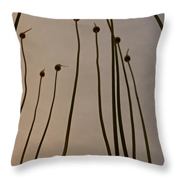 Wild Onions Throw Pillow by Stelios Kleanthous