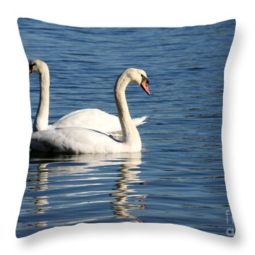 Wild Swans Throw Pillow by Sabrina L Ryan