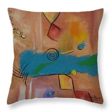 Throw Pillow featuring the painting Wild Wild West by Judith Rhue