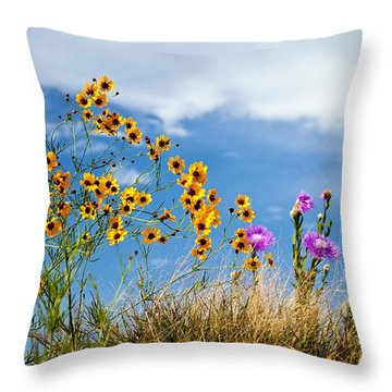 Wildflower Weed Throw Pillow by Tamyra Ayles