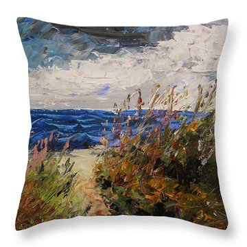 Wildflowers And Wind Throw Pillow