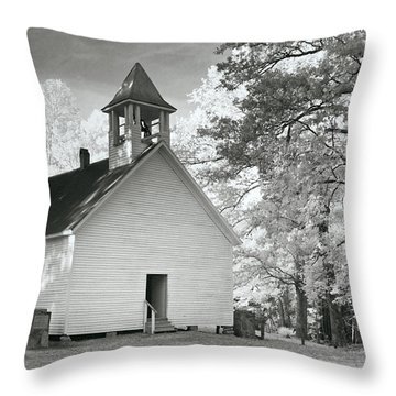 Throw Pillow featuring the photograph Wildwood Church by Mary Almond