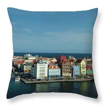 Willemstad Curacao Throw Pillow