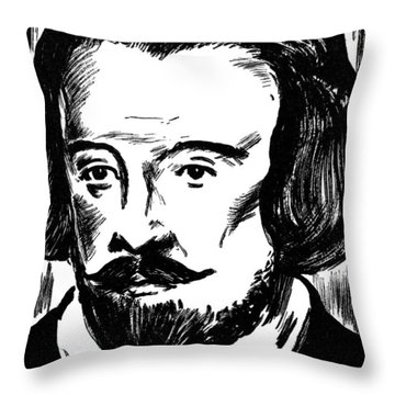 William Byrd (c1540-1623) Throw Pillow by Granger