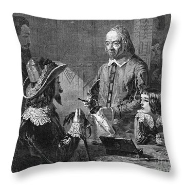 William Harvey, English Physician Throw Pillow by Photo Researchers