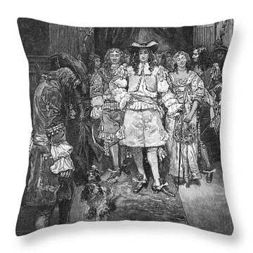 William Penn And Charles II Throw Pillow