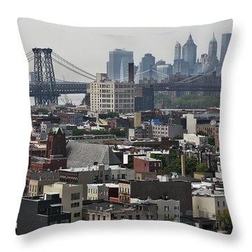Williamsburg Bridge Throw Pillow