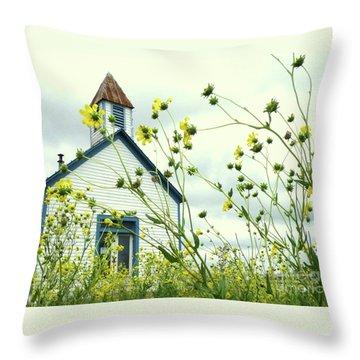 Willkommen Hier Throw Pillow by Joe Jake Pratt